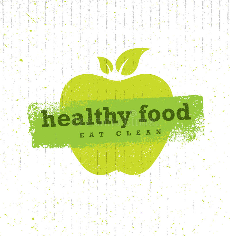 Healthy Food Organic Paleo Style Rough Vector Design Element On Cardboard Background. vector illustration