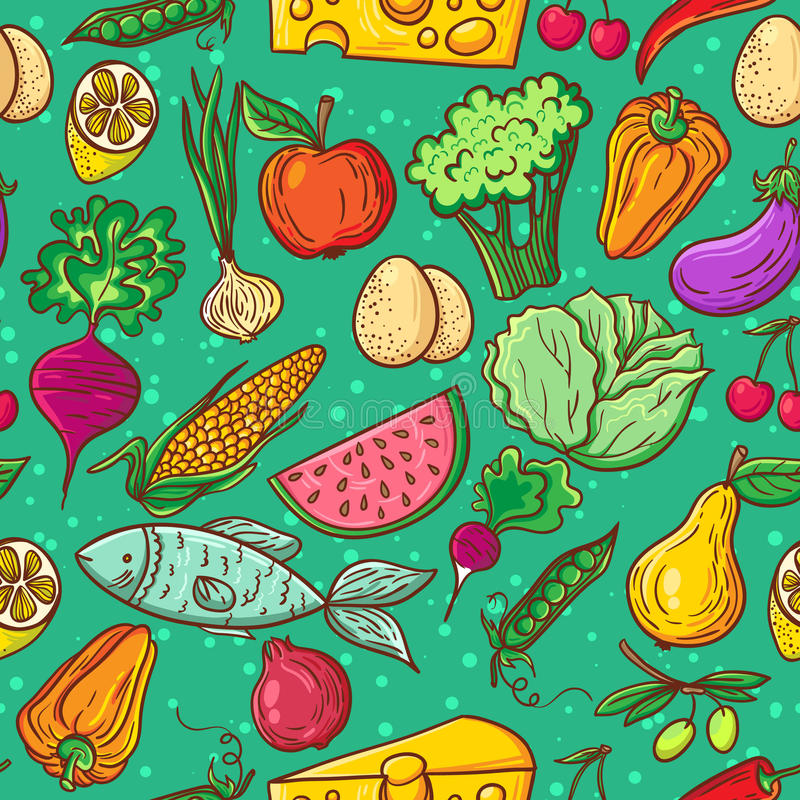 Download Healthy Food Pattern Stock Vector - Image: 50457299