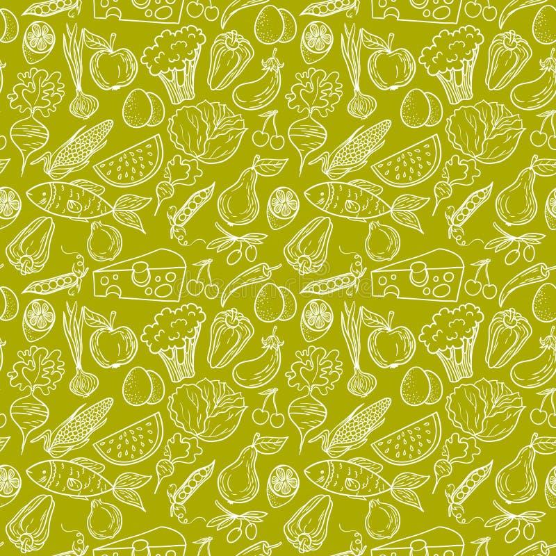 Download Healthy food pattern stock vector. Image of beet, fresh - 50457321