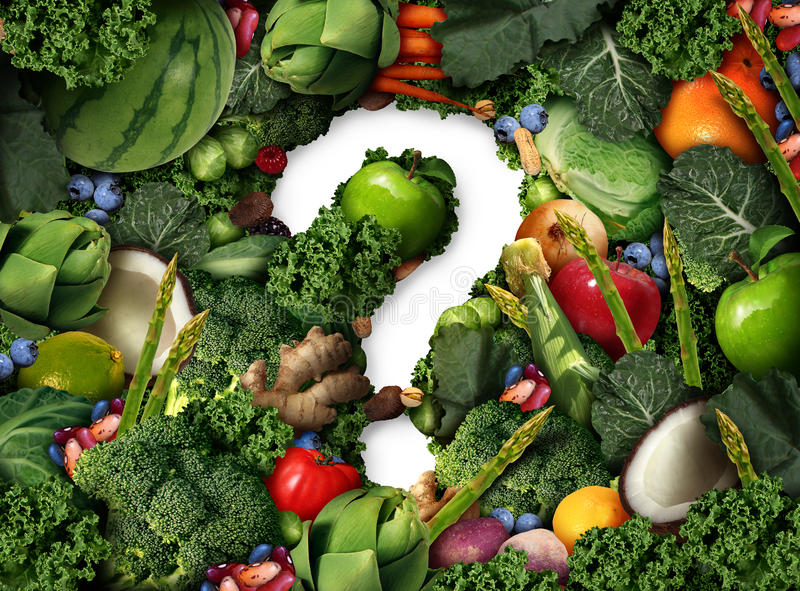 Healthy Food Question stock illustration