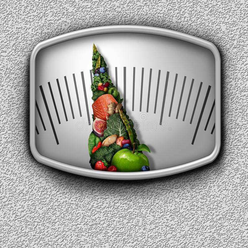 Healthy Food Scale vector illustration