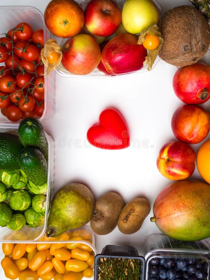 Healthy food to heart and cholesterol diet concept on white boards royalty free stock images