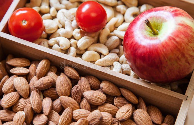 Healthy foods. On the tray - closeup shot stock photography