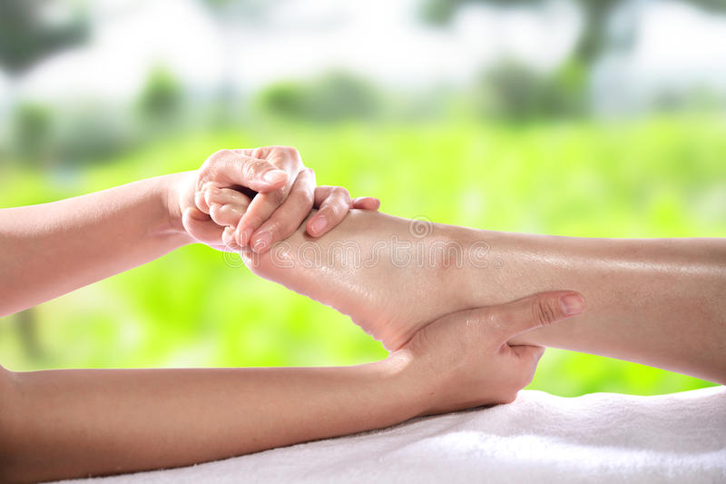 Healthy Foot Massage royalty free stock images