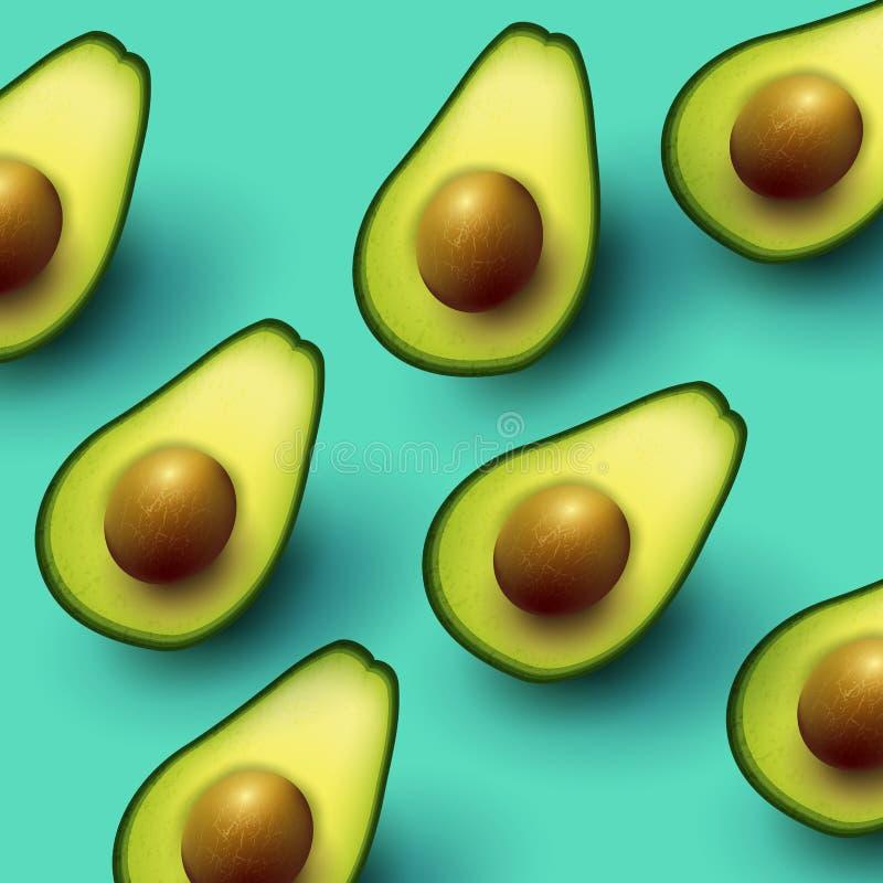 Healthy Fresh Avocado Background vector illustration