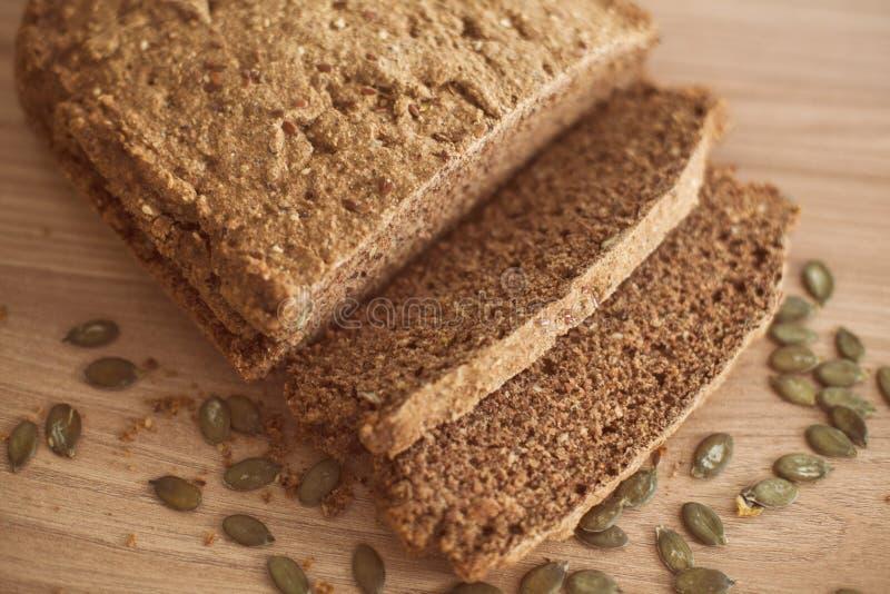 Healthy fresh bread. Homemade healthy fresh and tasty rural bread royalty free stock photo