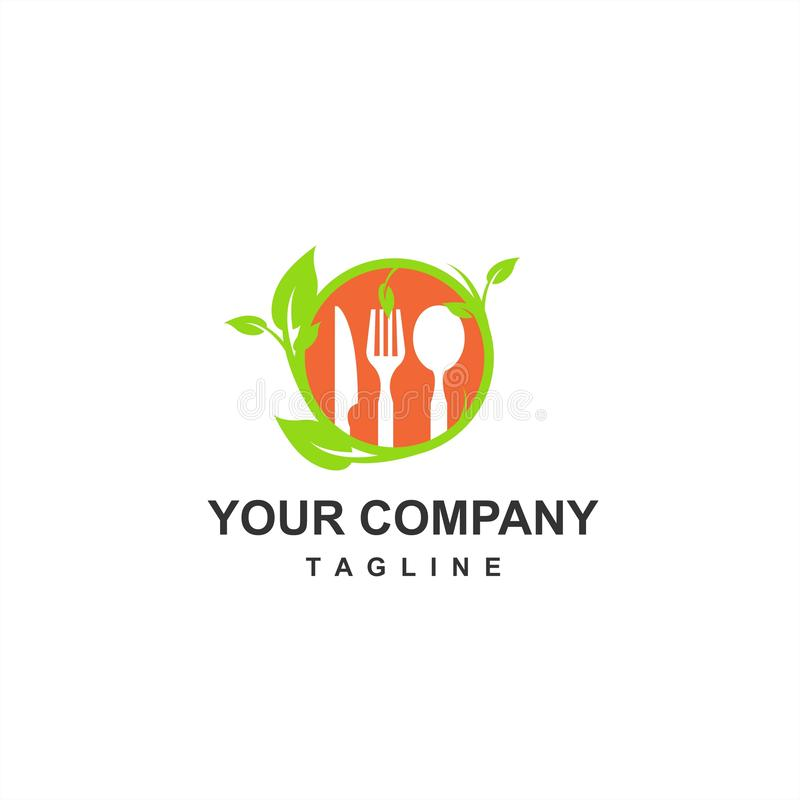 Healthy and fresh food for keto diet and vegan restaurant company logo and icon royalty free illustration