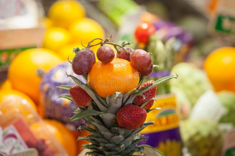Healthy fresh fruits. And vegetables royalty free stock images
