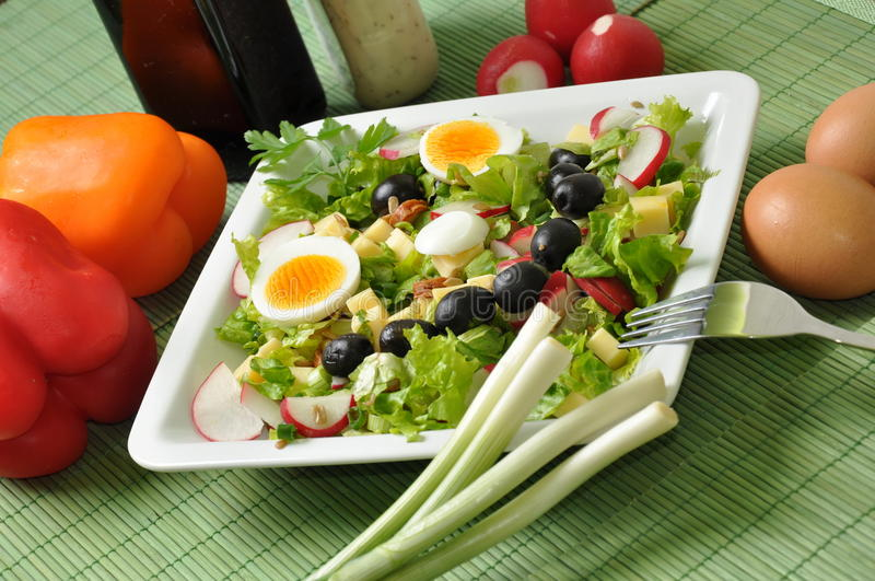 Healthy Fresh Salad Royalty Free Stock Images