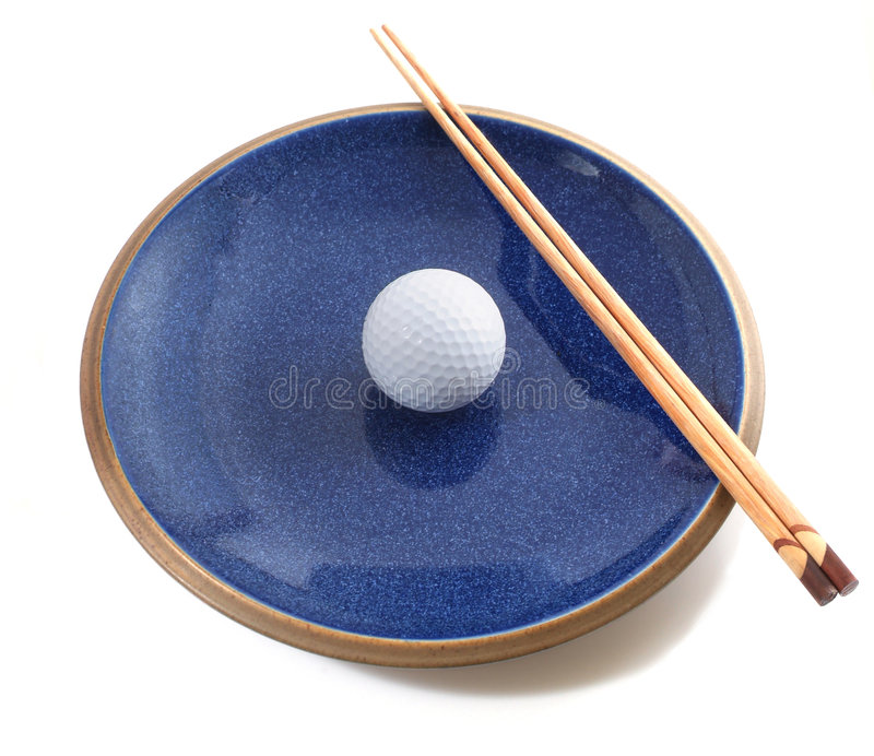 Healthy golf diet royalty free stock image