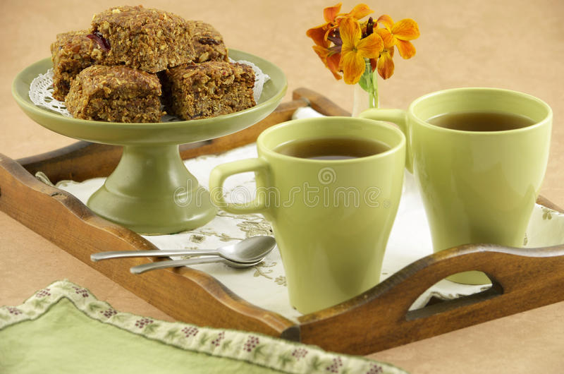 Healthy Granola Squares Royalty Free Stock Photography