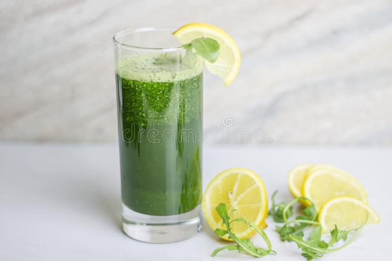 Green detox juice royalty free stock images