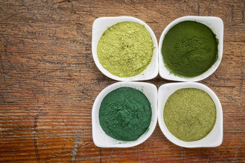 Healthy green dietary supplements royalty free stock images