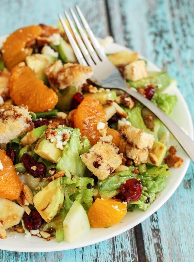 Healthy green salad royalty free stock photo