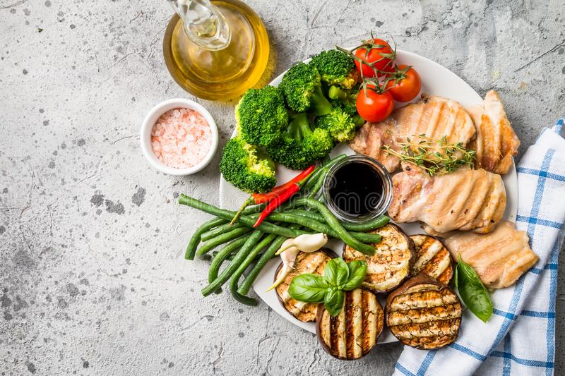 Healthy grill food stock photography