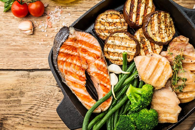 Healthy grill food royalty free stock photo