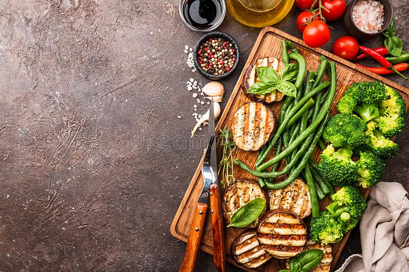 Healthy grill food royalty free stock photos