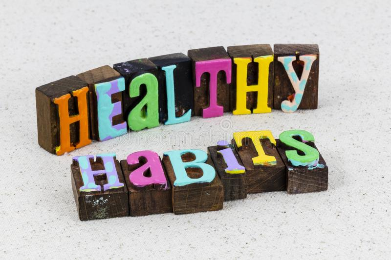 Healthy habit lifestyle exercise self wellness care royalty free stock photos