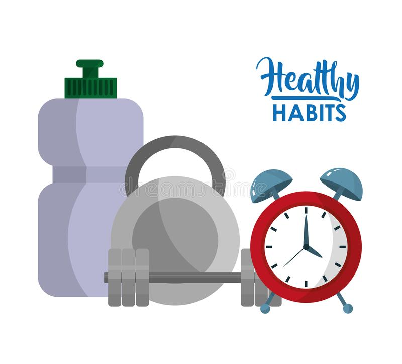 Healthy habits lifestyle concept. Vector illustration graphic design vector illustration
