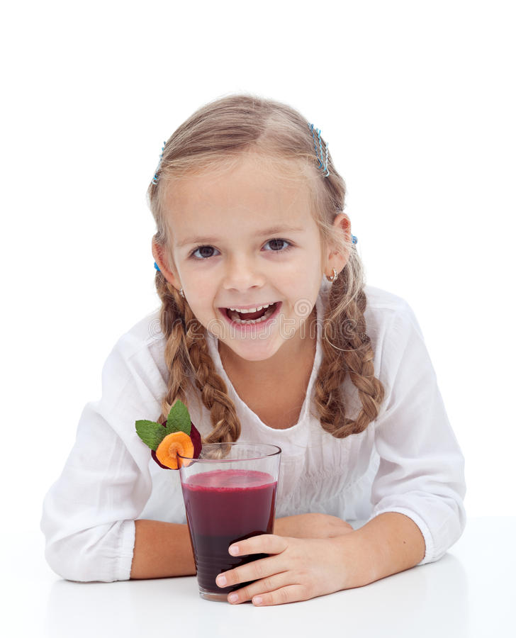 Download Healthy Happy Girl With Fresh Beetroot  Juice Royalty Free Stock Image - Image: 21836706