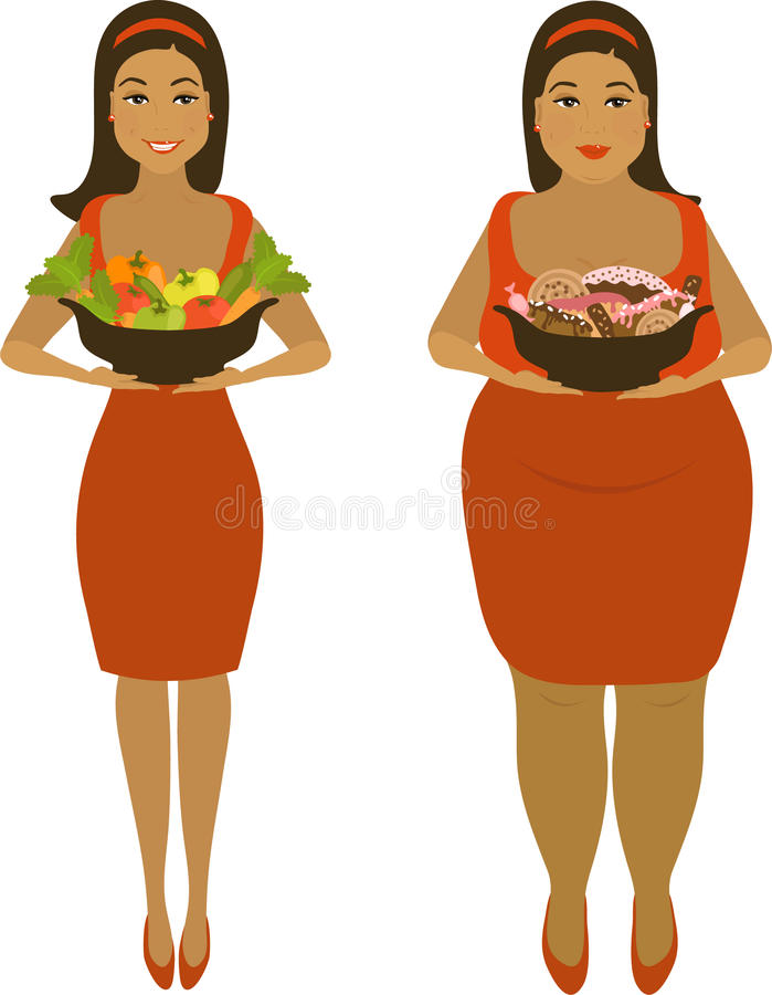Download After Healthy And Harmful Meal Stock Vector - Illustration of delicious, corpulent: 16525044