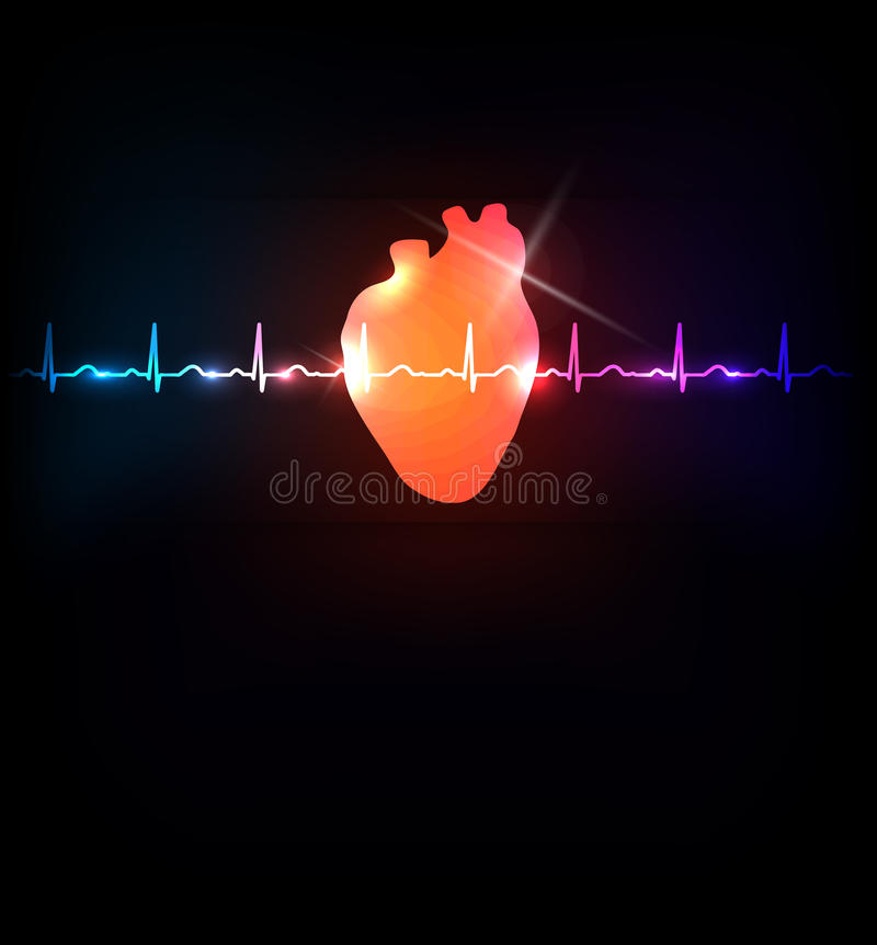 Free Healthy Heart And Life Line Royalty Free Stock Image - 51281276