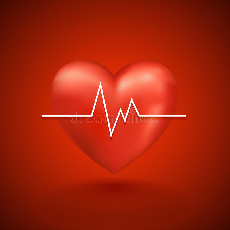 Download Healthy heart beat stock vector. Image of heart, graphic - 38601438
