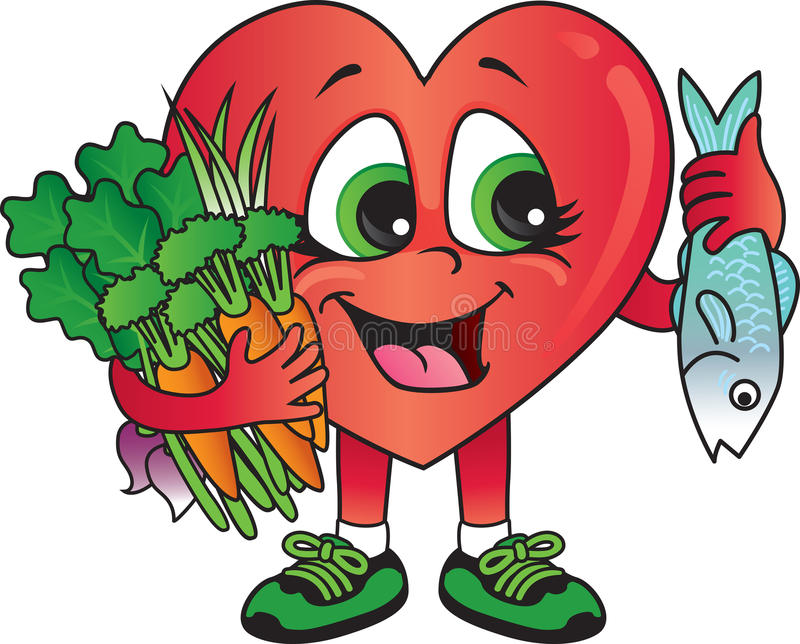 healthy heart foods stock vector illustration of fresh 30405387 rh dreamstime com healthy human heart clipart