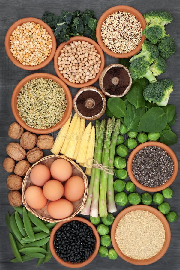 Healthy High Protein Food Selection stock photo