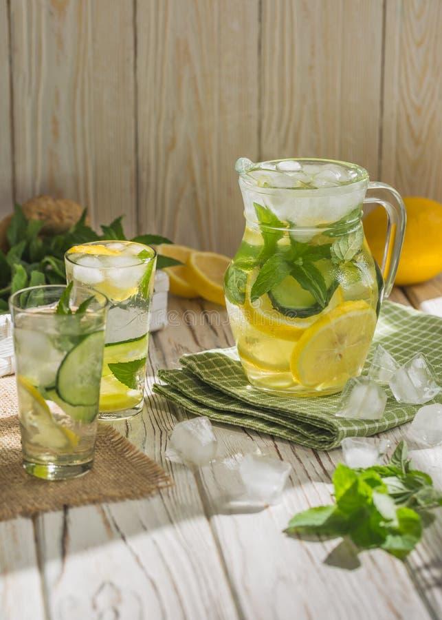 Healthy homemade lemonade royalty free stock photo