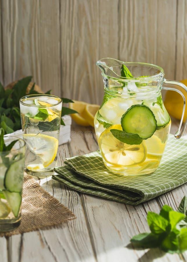 Healthy homemade lemonade stock images