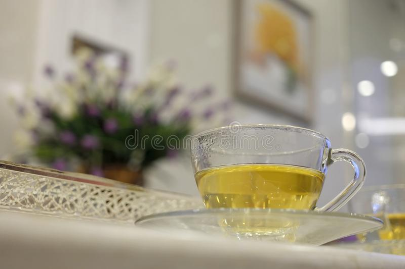 Healthy and hot drinks. stock photo