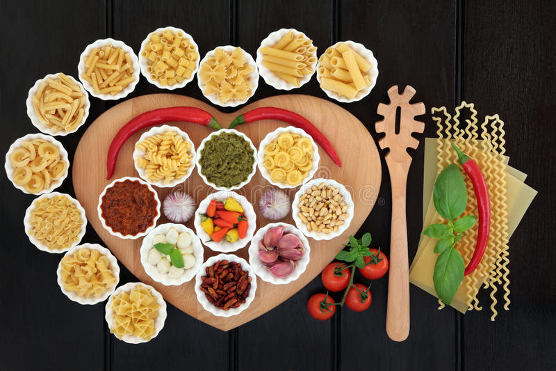 Healthy Italian Food stock photography