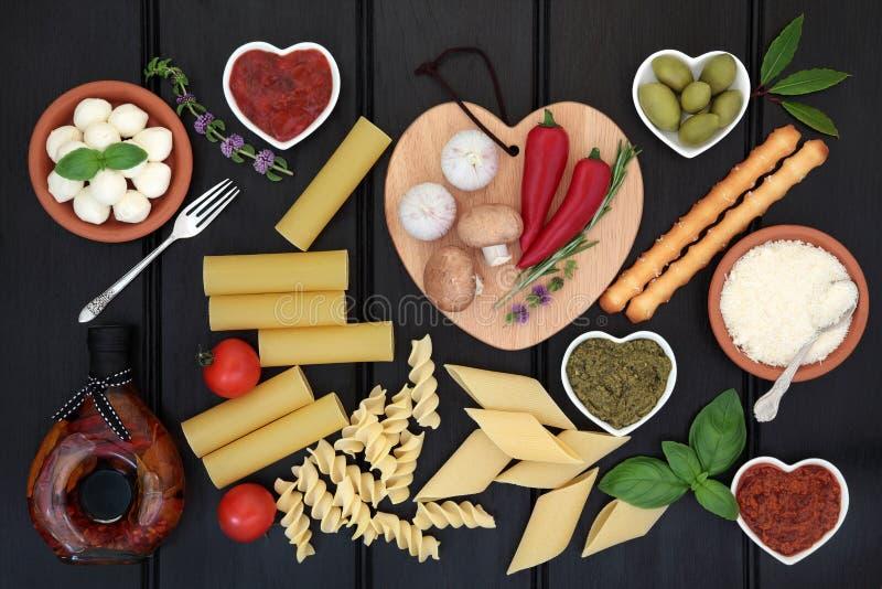 Healthy Italian Food Sampler stock image