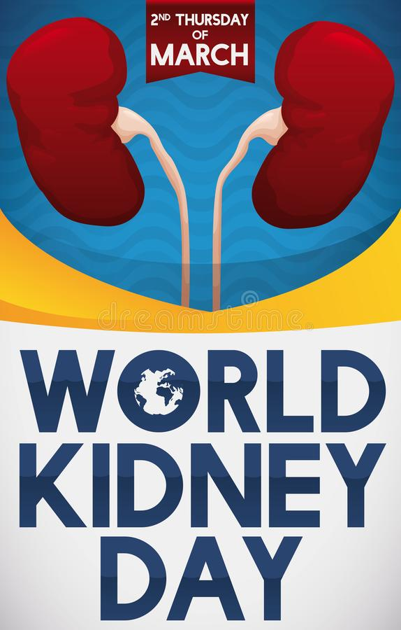 Healthy Kidneys Promoting Health Care in World Kidney Day, Vector Illustration vector illustration