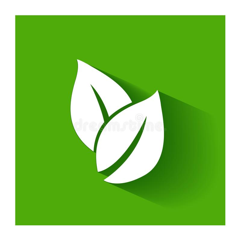 Healthy nature leafs icon logo vector flat design royalty free illustration