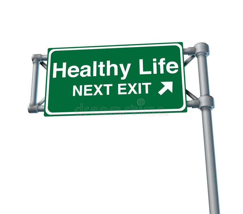 Healthy life Freeway Exit Sign highway street vector illustration