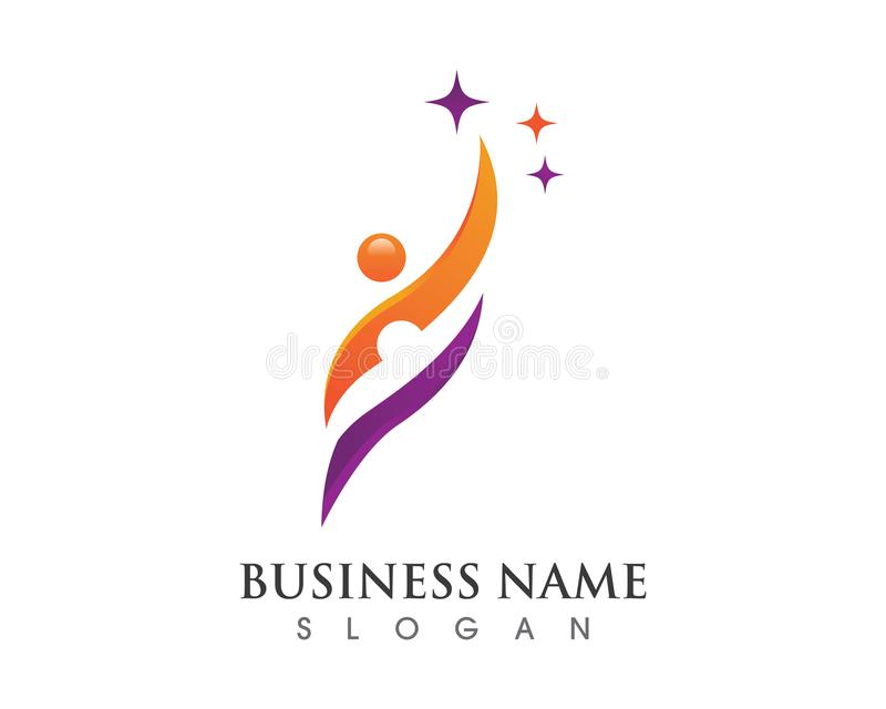 Healthy Life Logo. Human character logo sign Health care logo sign royalty free stock photo