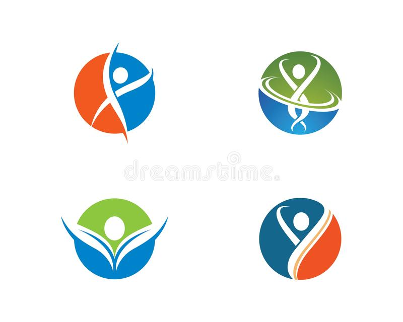 Healthy life logo template. Icon illustration design, symbol, sport, green, medical, human, people, creative, ecology, apple, beauty, body, brand, business stock photo