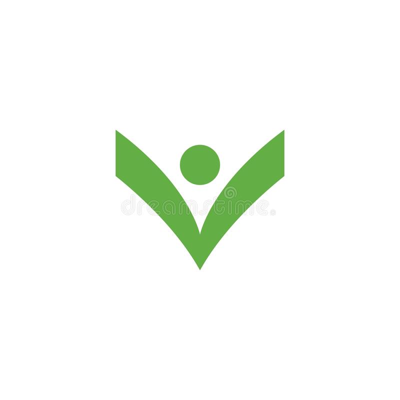 Healthy Life Logo. Template vector icon, bio, body, branding, business, care, character, company, concept, corporate, creative, design, eco, ecology, element stock illustration