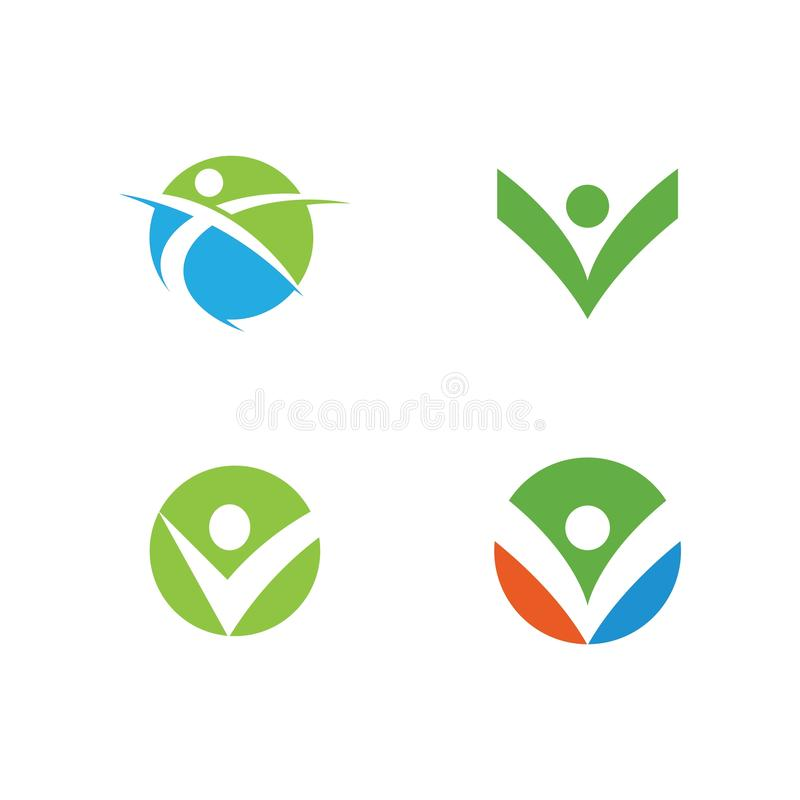 Healthy Life Logo. Template vector icon, bio, body, branding, business, care, character, company, concept, corporate, creative, design, eco, ecology, element vector illustration