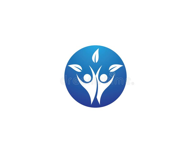 Healthy life logo royalty free illustration