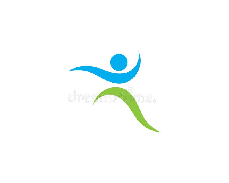 Healthy Life people Logo stock illustration