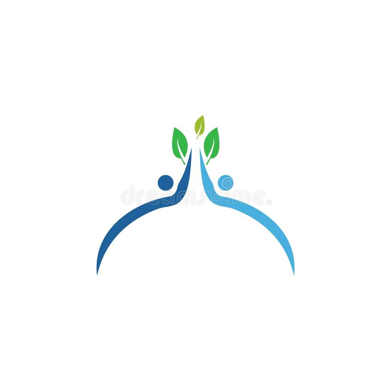 Healthy Life people. Healthy Life people Logo template vector, bio, body, branding, business, care, character, company, concept, corporate, creative, design stock illustration