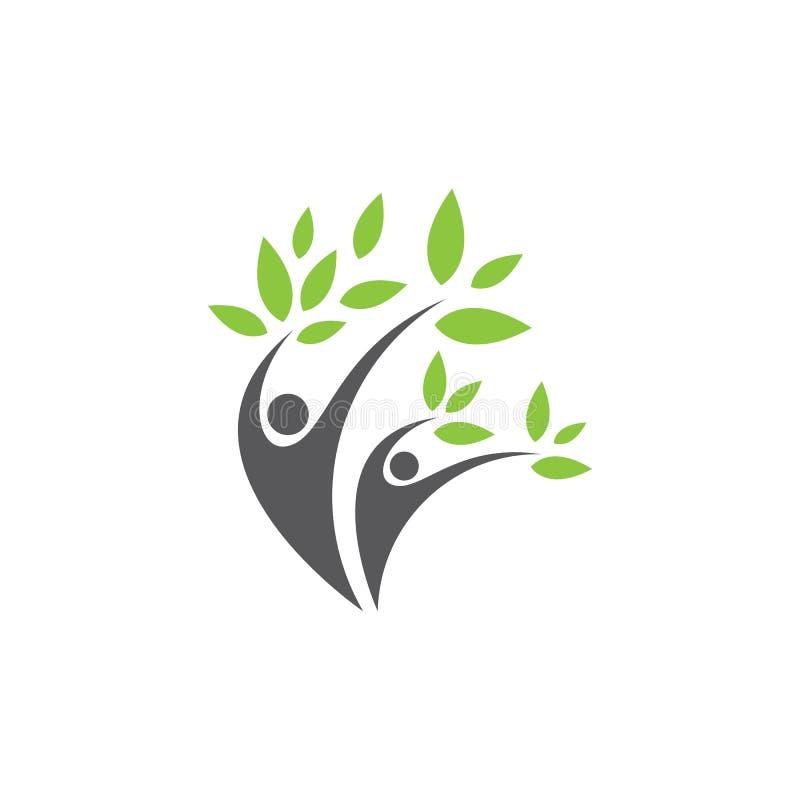 Healthy Life people Logo stock illustration