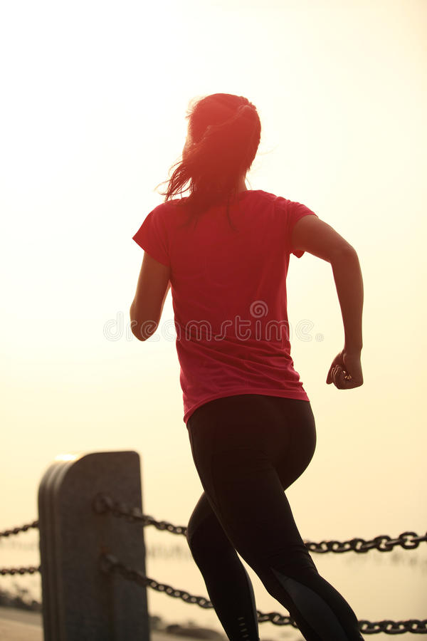 Download Healthy Lifestyle Beautiful Asian Woman Running Stock Image - Image of fitness, blue: 36679197