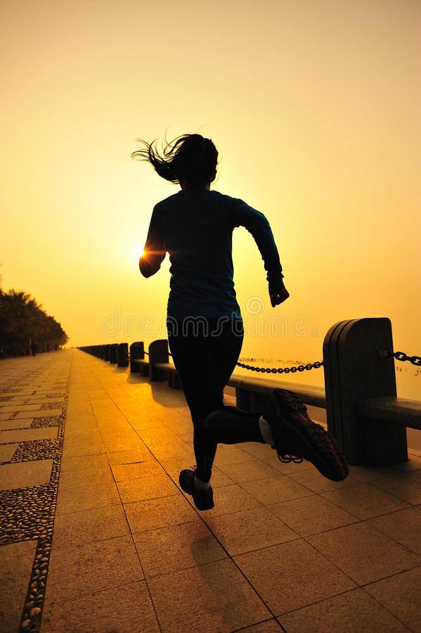 Download Healthy Lifestyle Beautiful Asian Woman Running Stock Photo - Image of carefree, fitness: 36813982