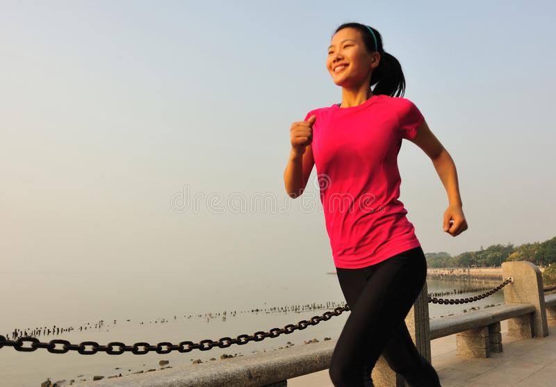 Download Healthy Lifestyle Beautiful Asian Woman Running Stock Image - Image: 36942569