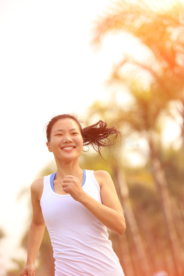 Download Healthy Lifestyle Beautiful Asian Woman Running Stock Image - Image of endurance, move: 36814443