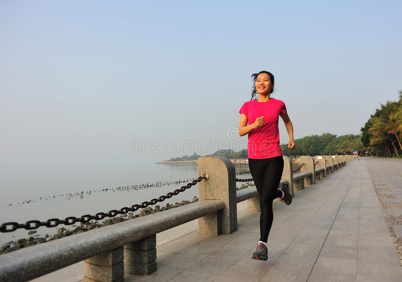 Download Healthy Lifestyle Beautiful Asian Woman Running Stock Photo - Image: 37005156